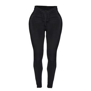Pretty little thing black ruched leggings